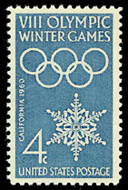 1960 Winter Olympics Stamp.