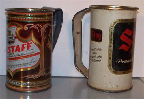 beer Can drinking mugs.