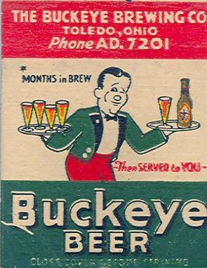 Bucky matchbook.