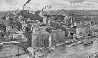 Ballantine Brewery in Newark, late 19th Century.