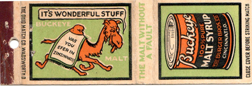 Camel matchbook.