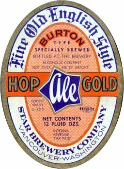 Hop Gold Ale label.