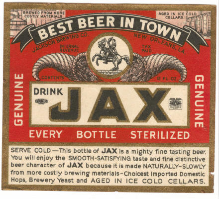 Old Jax Label.