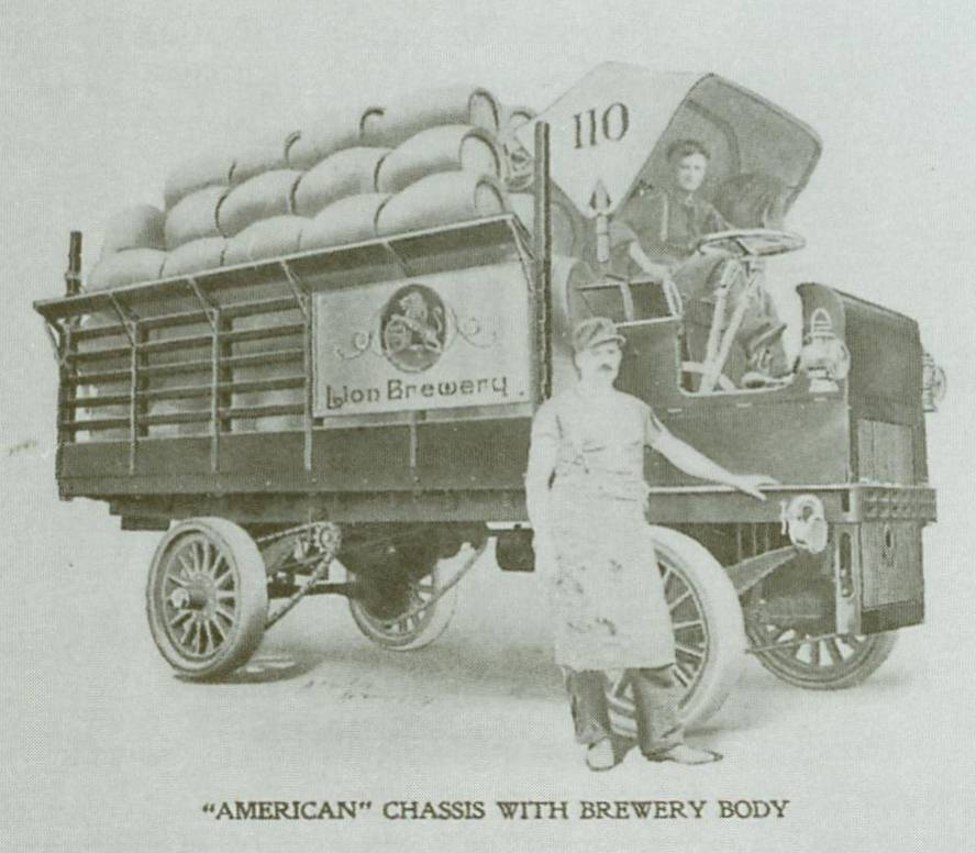 Pre-prohibition Lion Beer truck