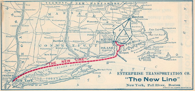 New Line route, 1907.