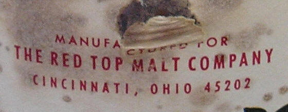 detail of label with zip code.