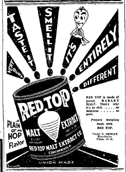 Red Top Malt ad.