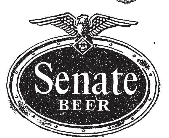 Senate beer logo.