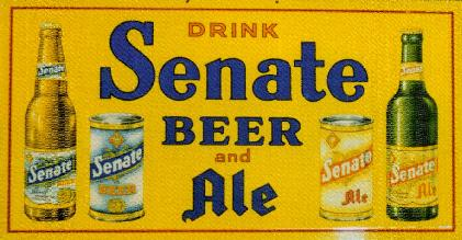 Senate Beer sign, 1940s.