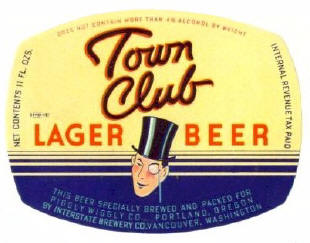 Town Club Label.