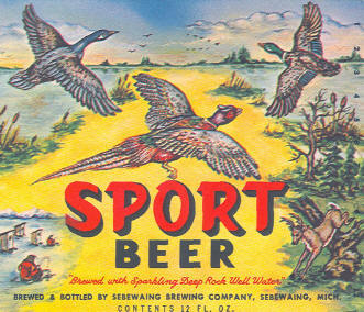 Sport Beer Label.